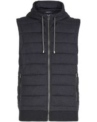 Zegna Sport - Soft Touch Navy Hooded Gilet - Lyst
