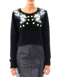 Emma Cook | Floral Silk Appliqué Sweater | Lyst