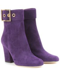 Gucci Kesha Suede Ankle Boots - Lyst