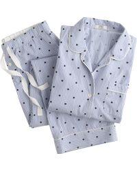 J.Crew Vintage Pajama Set in Dotted Stripe - Lyst