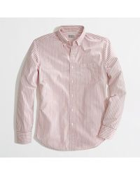 J.Crew Factory Washed Shirt in Stripe - Lyst