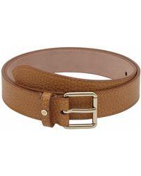 Mulberry Brown Slim Belt - Lyst