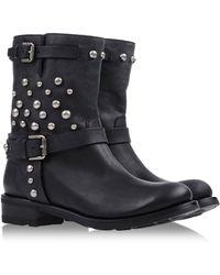 Ralph Lauren Black Ankle Boots - Lyst