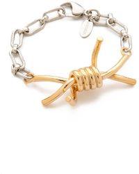 Rodarte Barbed Wire Bracelet - Metallic