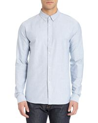 A.P.C. Blue Oxford Shirt - Lyst