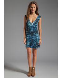 Blu Moon - Trapeze Short Dress in Blue - Lyst