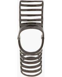 Dominic Jones - Black Rhodium Nama Cage Ring - Lyst