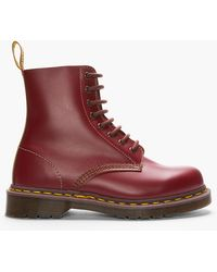 Dr. Martens Burgunday Leather Made in England 8-eye Boots - Lyst