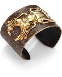 Iam By Ileana Makri 18k Goldplated Bronze Beetle Cuff - Lyst