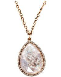 Irene Neuwirth - Rose Cut Rainbow Moonstone Locket Necklace - Lyst