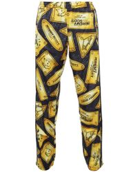Jeremy Scott for adidas Unisex Plaque Track Trousers Yellow