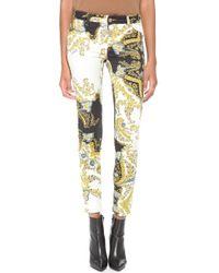 Just Cavalli Printed Skinny Jeans - Lyst