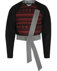 Kenzo Embroidered Wool Blend Felt Jacket - Lyst