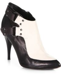 McQ by Alexander McQueen D Ring Bicolor Leather Ankle Boots - Lyst