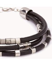 Forever 21 - Beaded Faux Leather Bracelet - Lyst