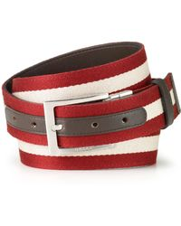 Bally Stripe & Solid Reversible Belt - Lyst