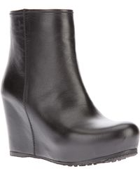 Car Shoe | Goat Skin Wedge Boots | Lyst