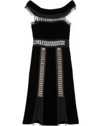 Christopher Kane Loop Tape Trimmed Velvet Dress - Lyst
