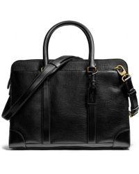 COACH Crosby Commuter in Box Grain Leather - Black