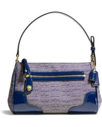 Coach Poppy Top Handle Pouch in Signature C Mini Oxford Fabric - Lyst