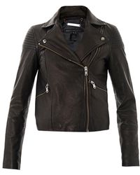 Marc By Marc Jacobs Sergeant Leather Jacket - Black
