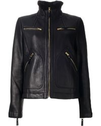 Marc By Marc Jacobs Shearling Biker Jacket - Lyst
