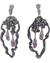 Arunashi - Mixed Sapphire and Diamond Earring - Lyst