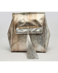 B Brian Atwood Backpack Juliette Party Chain Strap - Metallic