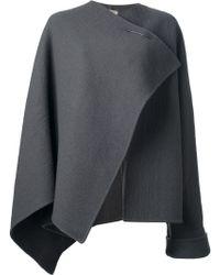 Bottega Veneta Asymmetric Cape - Grey