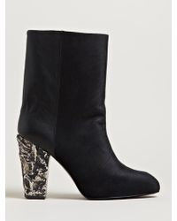 Damir Doma Womens Felta High Heel Leather Boots - Lyst