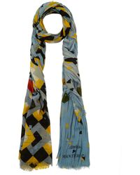 Play Mantero - Blue and Yellow Virgin Wool Scarf - Lyst