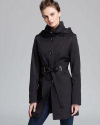 Via Spiga Button Down Rain Coat - Black
