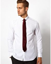 ASOS Asos Smart Shirt with Button Down Collar and Contrast Buttons - White