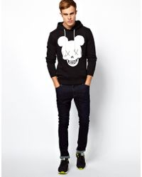 Izzue - Jack Jones Hoodie with Skull Logo Print - Lyst