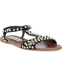 Steve Madden Nickiee Flat Sandals - Lyst