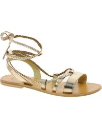 Asos Asos Forever Leather Flat Sandals - Lyst