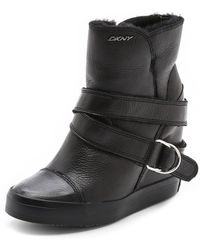 DKNY - Great Shearling Lined Sneaker Booties - Lyst