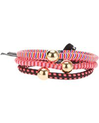 Marc By Marc Jacobs Mixed Striped Pony Bands Set - Pink