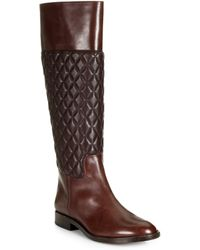 Michael Kors Mina Quilted Leather Riding Boots - Lyst