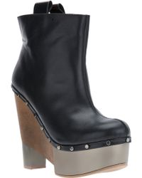 Pollini Wedge Ankle Boot - Lyst