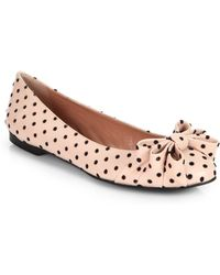 RED Valentino Polka Dot Leather Ballet Flats - Lyst