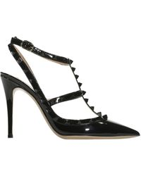 Valentino Shoes Heel 10 Rockstud Patent Leather Studs - Lyst