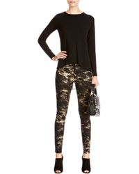 Karen Millen Camouflage Jean - Lyst