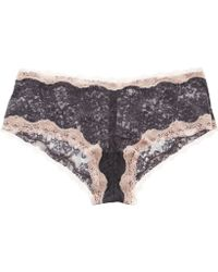 Kinky Knickers - Grey and Pink Scalloped Edge Lace Knickers - Lyst