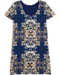 Madewell Floral Pixelbloom Shiftdress - Lyst