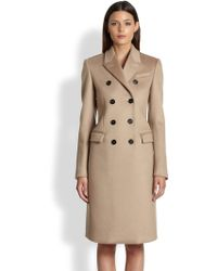 Burberry Prorsum Neoprene Coated Cashmere Doublebreasted Coat - Lyst
