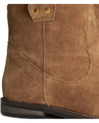 H&M Suede Boots - Brown