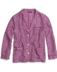 Madewell - Silk Pyjama Top in Diamond Stamp - Lyst