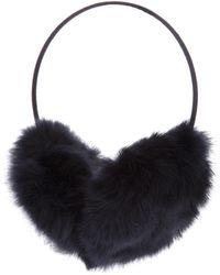 Meteo by Yves Salomon Rabbit Fur Earmuffs - Black
