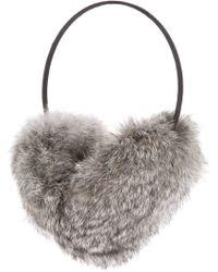 Meteo by Yves Salomon Rabbit Fur Earmuffs - Gray
